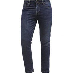Pier One Jeansy Slim Fit dark blue denim. Niebieskie jeansy męskie marki Pier One. Za 129,00 zł.