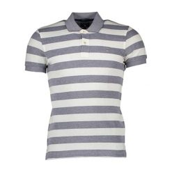 Koszulki polo: Koszulka polo w kolorze szaro-białym