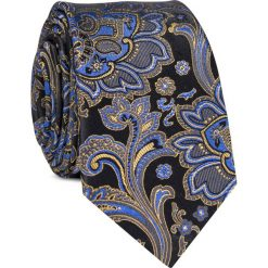 Krawat jedwabny KWWR000344. Czarne krawaty męskie Giacomo Conti, z jedwabiu. Za 129,00 zł.