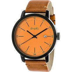 """Zegarki męskie: Zegarek kwarcowy """"the 2500"""" w kolorze jasnobrązowo-czarno-pomarańczowym"""