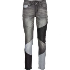Dżinsy SKINNY w krótszej długości bonprix szary denim. Szare jeansy damskie skinny bonprix, z denimu. Za 109,99 zł.