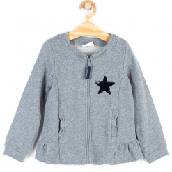 Bluza. Szare bluzy dziewczęce rozpinane MAGIC IS ALL AROUND, z aplikacjami, z bawełny, z długim rękawem, długie. Za 39,90 zł.