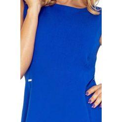 Ewelina Sukienka TRAPEZ - chabrowa. Niebieskie sukienki na komunię numoco, s, trapezowe. Za 139,99 zł.