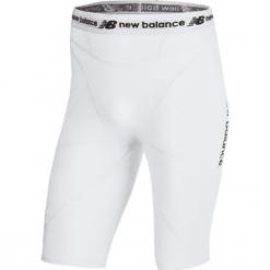 Szorty kompresyjne - MS710139WT. Szare spodenki sportowe męskie New Balance, m, z materiału, na fitness i siłownię. W wyprzedaży za 129,99 zł.