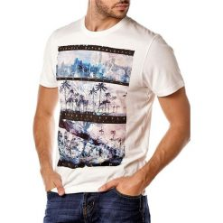T-shirty męskie: T-shirt w kolorze kremowym