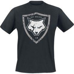 T-shirty męskie: Bad Wolves Distressed Shield Logo T-Shirt czarny