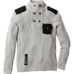 """Swetry klasyczne męskie: Sweter """"Slim fit"""" bonprix jasnoszary melanż"""