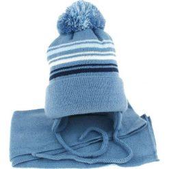 Czapka dziecięca z szalikiem CZ+S 018A niebieska r. 46-50. Niebieskie czapeczki niemowlęce Proman. Za 45,25 zł.