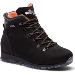 Trekkingi NIK - 08-0593-02-2-01-03 Czarny. Czarne buty zimowe damskie Nik, z materiału. W wyprzedaży za 249,00 zł.