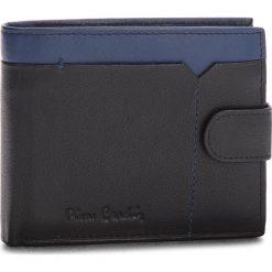 Duży Portfel Męski PIERRE CARDIN - Sahara Tilak14 324A Nero/Blue. Czarne portfele męskie marki Pierre Cardin, ze skóry. Za 125,00 zł.
