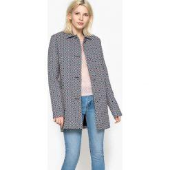 Płaszcze damskie pastelowe: Żakardowy płaszcz