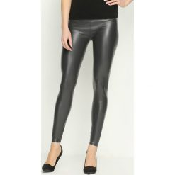 Spodnie damskie: Szare Legginsy Formfitting