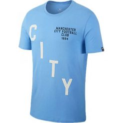 Nike Koszulka MCGC M NK TEE SQUAD niebieska r. M (841724 412). Białe koszulki sportowe męskie marki Adidas, l, z jersey, do piłki nożnej. Za 71,84 zł.