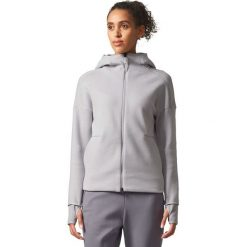 Bluzy sportowe damskie: Adidas Bluza damska ZNE Hood2 Pulse szara r. S (BQ0099)