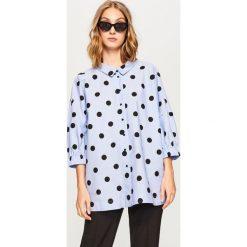 Koszula w grochy - Niebieski. Niebieskie koszule damskie marki Reserved, w grochy. W wyprzedaży za 69,99 zł.