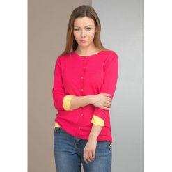Kardigany damskie: Sweter z ażurowym zdobieniem