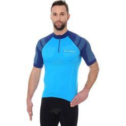 Koszulki sportowe męskie: Brubeck Koszulka rowerowa SS12390 lazurowo-niebieska r. XS