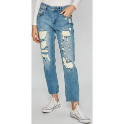 Liu Jo - Jeansy New Precious. Niebieskie proste jeansy damskie marki Liu Jo. W wyprzedaży za 499,90 zł.