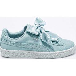 Puma - Buty Suede Heart Pebble Wn's. Szare buty sportowe damskie marki Puma, z gumy. W wyprzedaży za 249,90 zł.