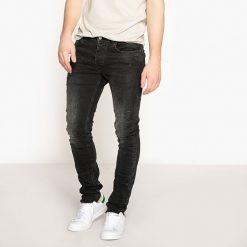 Jeansy slim z nieobrobionymi brzegami. Czarne jeansy męskie slim La Redoute Collections. Za 176,36 zł.