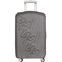 Pokrowiec na walizkę LOQI Go Go Go. Szare walizki marki LOQI, z elastanu. Za 114,00 zł.