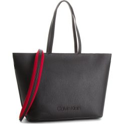 Torebka CALVIN KLEIN - Pop Touch Shopper K60K604286  001. Czarne shopper bag damskie marki Calvin Klein, ze skóry ekologicznej, duże. Za 699,00 zł.