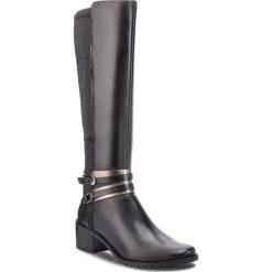 Kozaki CAPRICE - 9-25514-21 Black Nappa 022. Czarne buty zimowe damskie Caprice, z materiału, na obcasie. W wyprzedaży za 359,00 zł.