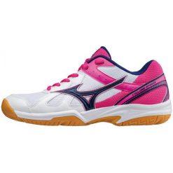 Buty sportowe damskie: Mizuno Buty Halowe Cyclone Speed (W) Wht/Blueprint/Pinkglo 38.5/5.5