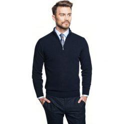 Sweter nagore troyer granatowy. Niebieskie swetry klasyczne męskie Recman, m, z kołnierzem typu troyer. Za 249,00 zł.