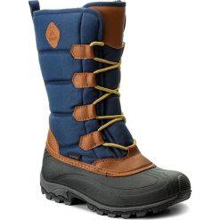 Śniegowce KAMIK - Mcgrath NK2149  Navy. Brązowe buty zimowe damskie marki Kamik, z materiału, na niskim obcasie. W wyprzedaży za 289,00 zł.
