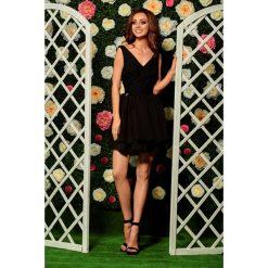 Sukienki balowe: Wieczorowa sukienka mini z koronką  czarna