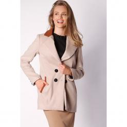 Płaszcz w kolorze beżowym. Zielone płaszcze damskie wełniane marki Last Past Now, xs, w paski. W wyprzedaży za 279,95 zł.