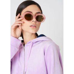 Okulary przeciwsłoneczne damskie: NA-KD Trend Owalne okulary przeciwsłoneczne – Purple