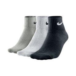 Skarpety Nike 3PPK Lightweight Quarter (S,M) (SX4706-901). Czarne skarpetki męskie marki Nike. Za 39,99 zł.