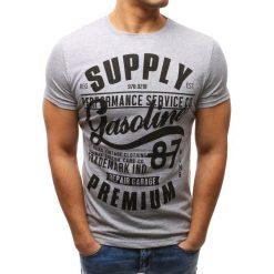 T-shirty męskie z nadrukiem: T-shirt męski z nadrukiem szary (rx2653)