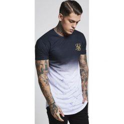 T-shirty męskie z nadrukiem: SIKSILK MARBLE FADE CURVED HEM TEE Tshirt z nadrukiem black
