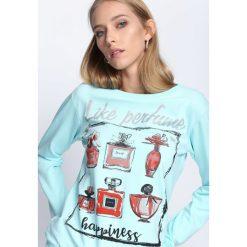 Jasnoniebieska Bluza Paradise Island. Szare bluzy damskie Born2be, xl, z nadrukiem, z dresówki. Za 24,99 zł.