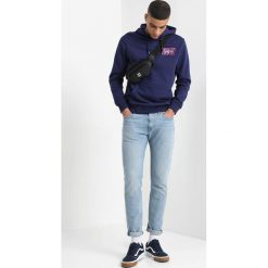 Bejsbolówki męskie: Burton Menswear London PRINT HOOD Bluza z kapturem navy