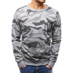 Bluzy męskie: Bluza męska z nadrukiem camo szara (bx3499)