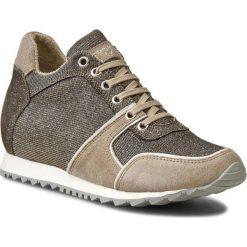 Sneakersy TOSCA BLU - Ematite SS1611S208 Tortora C76. Brązowe sneakersy damskie Tosca Blu, z materiału. W wyprzedaży za 329,00 zł.
