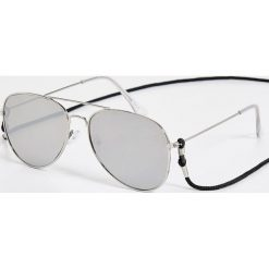 Okulary przeciwsłoneczne damskie aviatory: Okulary przeciwsłoneczne – Jasny szar