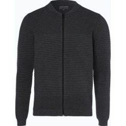Finshley & Harding - Kardigan męski, szary. Czarne swetry rozpinane męskie marki Finshley & Harding, w kratkę. Za 229,95 zł.