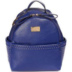 """Plecaki damskie: Plecak """"About"""" w kolorze niebieskim - 21 x 25 x 13 cm"""