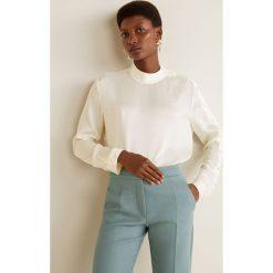 Mango - Bluzka Bonton. Niebieskie bluzki wizytowe marki ARTENGO, z elastanu, ze stójką. Za 199,90 zł.