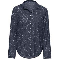 Bluzki asymetryczne: Bluzka w kropki bonprix czarno-biały w kropki