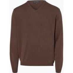 Finshley & Harding - Sweter męski z kaszmiru i jedwabiu, beżowy. Brązowe swetry klasyczne męskie Finshley & Harding, m, z dzianiny. Za 299,95 zł.