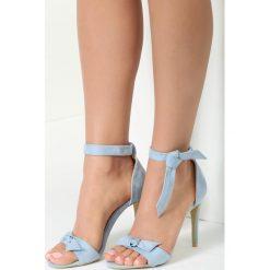 Sandały damskie: Niebieskie Sandały Listen To Earth