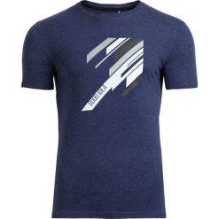 T-shirt męski TSM613 - ciemny granatowy melanż - Outhorn. Niebieskie t-shirty męskie Outhorn, na lato, m, melanż, z bawełny. W wyprzedaży za 29,99 zł.