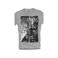 T-shirt UNDERWORLD Ring spun cotton Born to lose. Szare t-shirty męskie z nadrukiem marki Underworld, m, z bawełny. Za 59,99 zł.