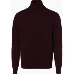 Golfy męskie: Andrew James – Sweter męski z dodatkiem kaszmiru, czerwony